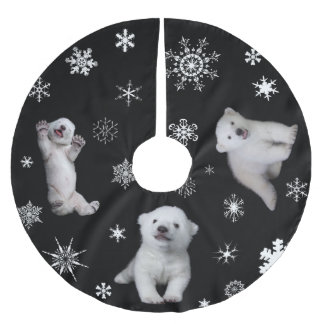 polar bear - Luna Brushed Polyester Tree Skirt
