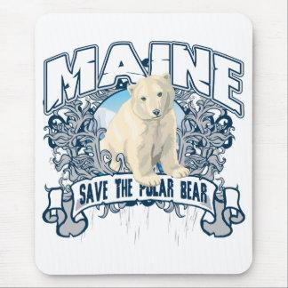 Polar Bear Maine Mouse Pad