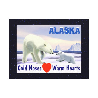 Polar Bear - Mama Nose Best Canvas Print