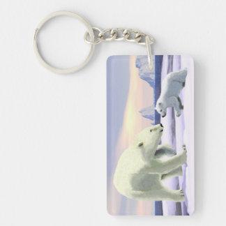 Polar Bear - Mama Nose Best Double-Sided Rectangular Acrylic Keychain