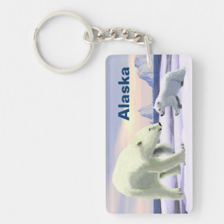 Polar Bear - Mama Nose Best Double-Sided Rectangular Acrylic Keychain