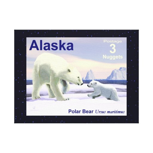 Polar Bear - Mama Nose Best Gallery Wrapped Canvas