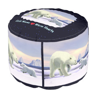 Polar Bear - Mama Nose Best Round Pouf