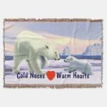 Polar Bear - Mama Nose Best Throw Blanket