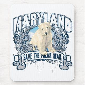 Polar Bear Maryland Mouse Pad