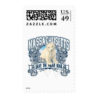 Polar Bear Massachusetts Stamps