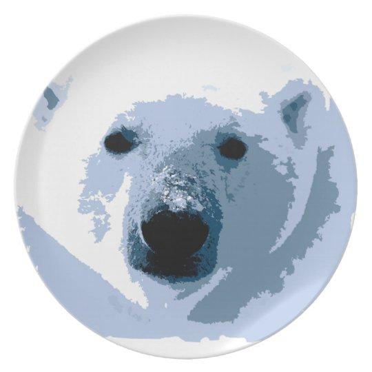 Polar Bear Melamine Plate