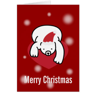 Polar Bear Merry Christmas Card