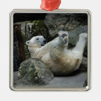 Polar Bear Metal Ornament