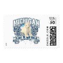 Polar Bear Michigan Postage