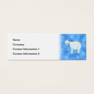 Polar Bear. Mini Business Card