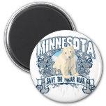 Polar Bear Minnesota Fridge Magnet