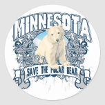 Polar Bear Minnesota Sticker