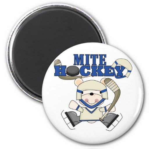 Polar Bear Mite Hockey Tshirts and Gifts Magnets
