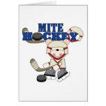 Polar Bear Mites Hockey Tshirts and Gifts Greeting Card