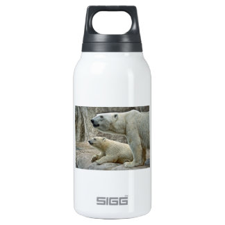 Polar Bear Mom and Baby Insulated Water Bottle