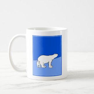 Polar Bear Mom and Cub Coffee Mug