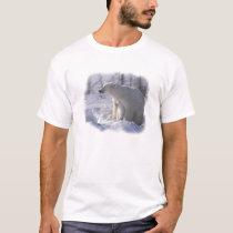 Polar bear mom and cub T-Shirt
