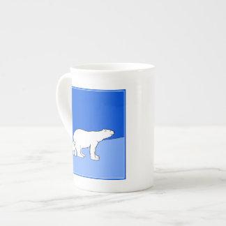 Polar Bear Mom and Cub Tea Cup