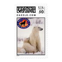 Polar Bear Mom and Cubs Postage