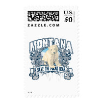 Polar Bear Montana Postage