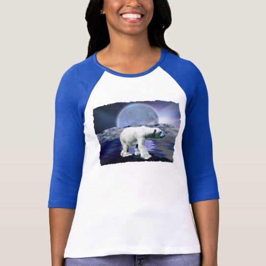POLAR BEAR, MOON & AURORA Ladies Shirt