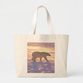 Polar Bear Morn 3 Large Tote Bag