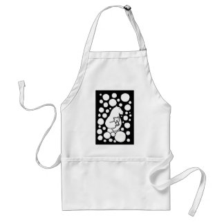 Polar Bear Mother and Baby in Snow Art Adult Apron