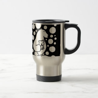 Polar Bear Mother and Baby in Snow Art Coffee Mug
