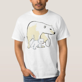 polar bear  mother and baby tshirt