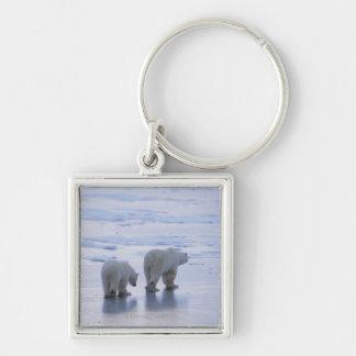 Polar Bear Mother and Cub Keychain