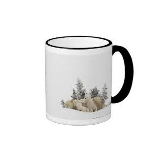Polar Bear Mother And Her Cubs in Wapusk Park Coffee Mug