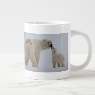 Polar Bear Mother with Cub Giant Coffee Mug