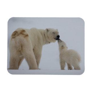 Polar Bear mother with cub Rectangular Photo Magnet