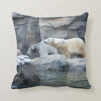 Polar Bear: Nakita and Berlin Throw Pillow