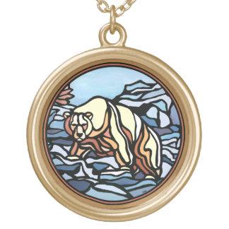 Polar Bear Necklace Native Art Bear Necklace