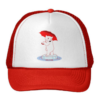 Polar Bear needs an Umbrella Doodle Art Hat