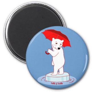 Polar Bear needs an Umbrella Doodle Art Magnet