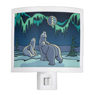 Polar Bear Nightlight Native Bear Art Night Light