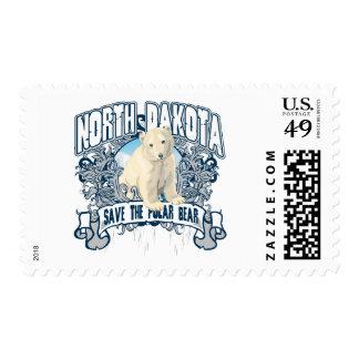 Polar Bear North Dakota Stamps