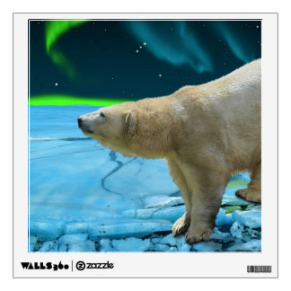 Polar Bear & Northern Lights Art Display Decal 3