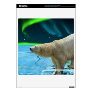Polar Bear & Northern Lights Playstation 3 Skin PS3 Slim Console Decals
