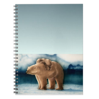 Polar Bear Spiral Note Book
