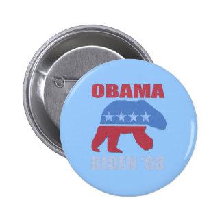 Polar Bear Obama Biden '08 Button Pin