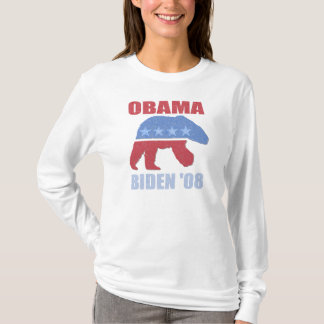 Polar Bear Obama Biden '08 Democrat Womens Hoodie