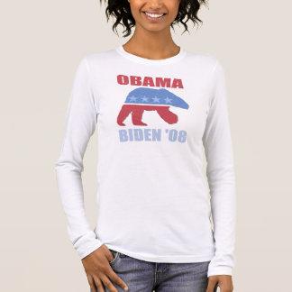Polar Bear Obama Biden Long Sleeve Womens Shirt