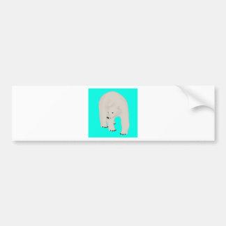Polar Bear on Bright Turquoise Bumper Sticker