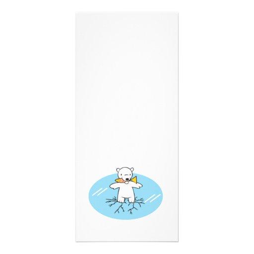 polar bear on cracked ice rack card template