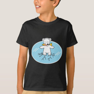 polar bear on cracked ice T-Shirt