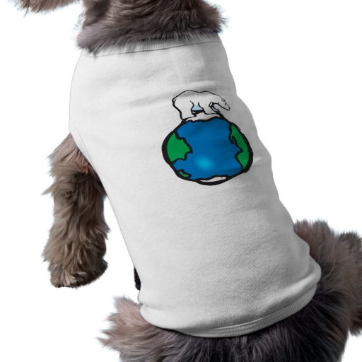 polar bear on earth pet shirt
